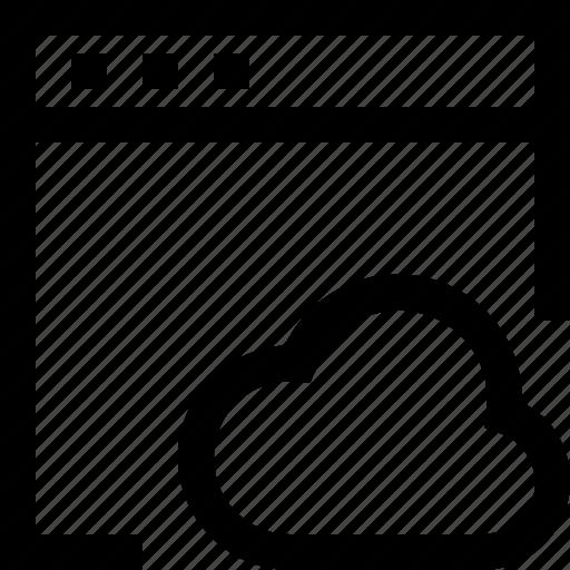browser, cloud, computer, design, internet, network icon