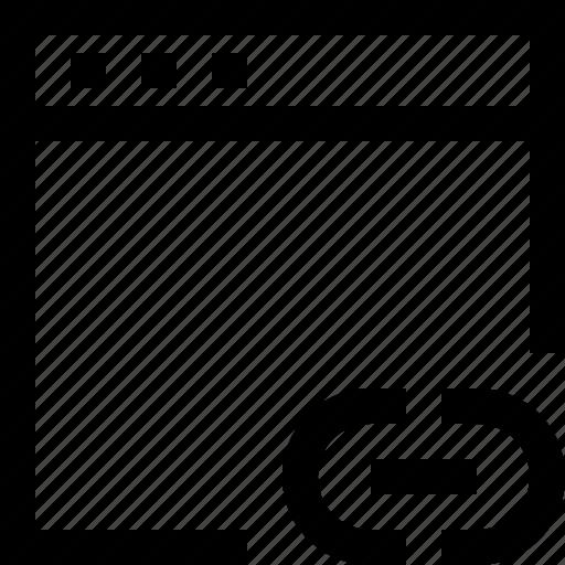 browser, computer, design, internet, link icon