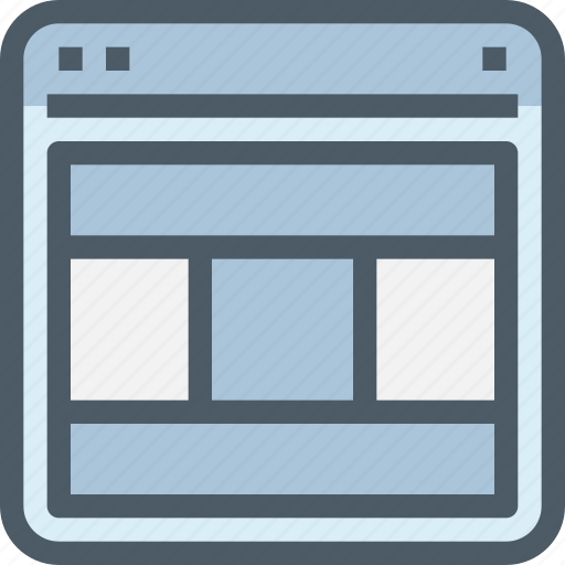browser, interface, internet, layout, ui, web icon