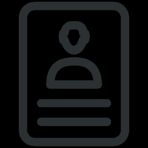 cv, document, employee, hiring, portfolio, profile, resume icon icon
