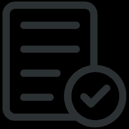 accept, check, document, file icon icon