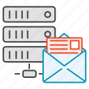 data, database, hosting, message, server icon