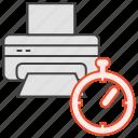 history, print, printing, timer icon