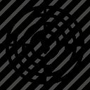cash, money, profit, target icon