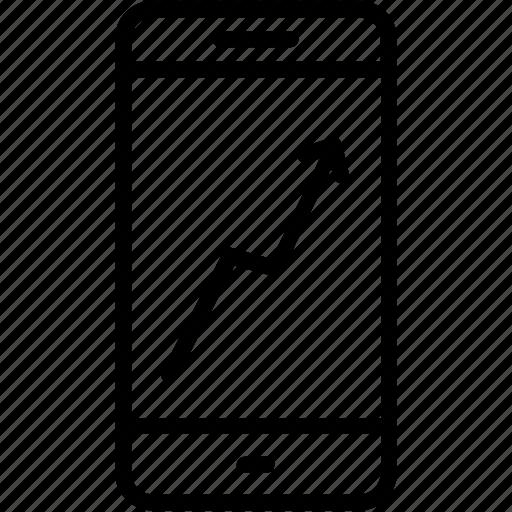 diagram, mobile, progress, statistics icon