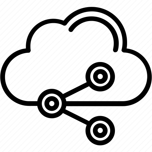 cloud, cloud sharing, media network, share icon