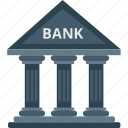 bank, building, courthouse, institute, real estate, school building icon