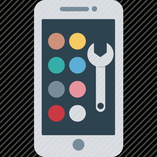 app development, mobile, mobile development icon