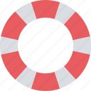 life ring, lifebuoy, lifesaver, ring buoy icon