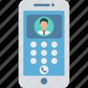 digital, identity, mobile call, person icon