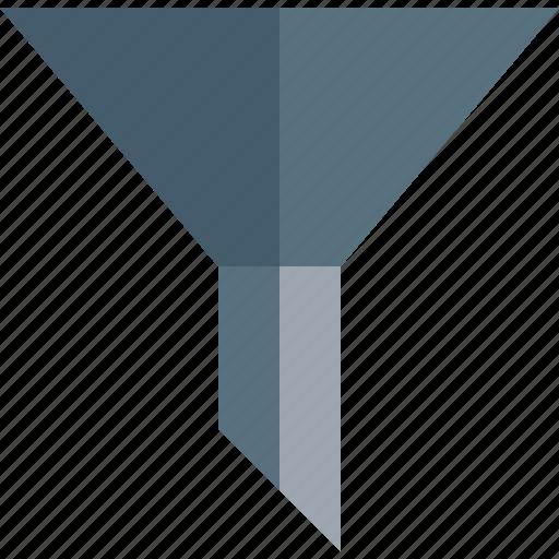 cone, filter, funnel, pipe icon
