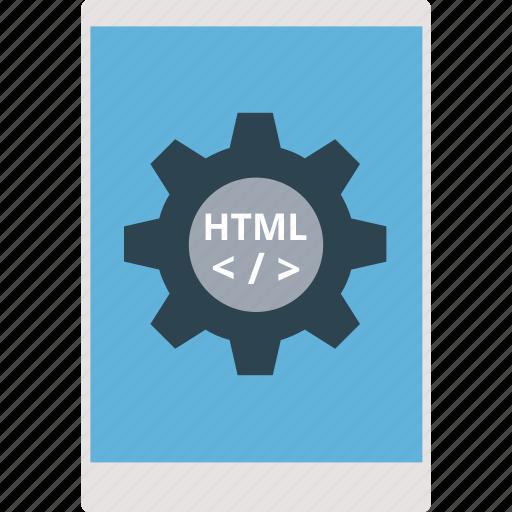app development, mobile app development, mobile development, mobile div, mobile with cog icon
