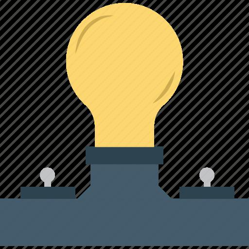 bulb, electric light, light bulb icon
