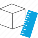 block, creative, measure, ruler icon
