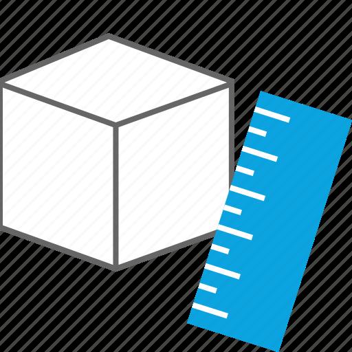 block, creative, measure, ruler icon
