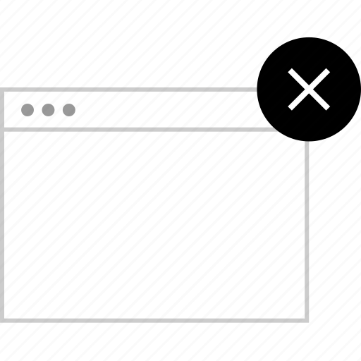 close, delete, internet, window icon
