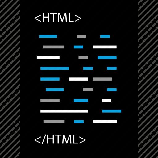 html, language, online, script icon