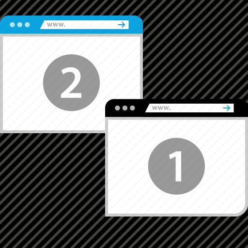 close, new, tab, windows icon