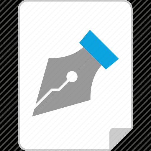 custom, file, illustrator, pen icon