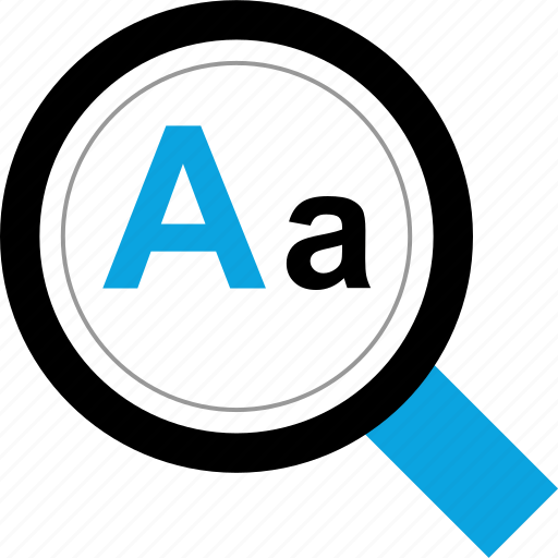 magnifying, script, search, text icon