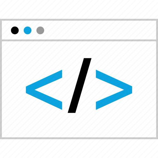 dev, development, script, web icon