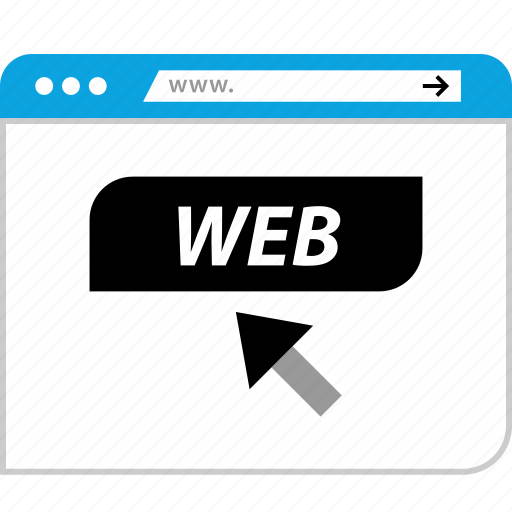 browser, click, internet, www icon