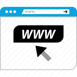 browser, click, pointer, www icon