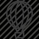 corel, hot air balloon, travel icon