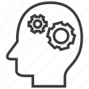 brainstorming, gear, mindset icon