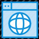 design, globe, internet, web, world icon