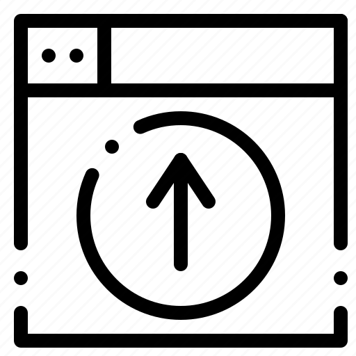 application, design, up, upload, web icon