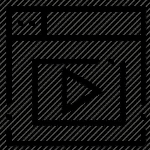 design, video, web icon