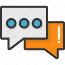 chat box, chat bubble, chit chat, conversation, talk icon