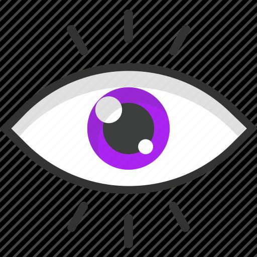 eye, see, sight, visibility, visual icon
