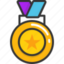 award medal, medal, medallion, prize, reward icon