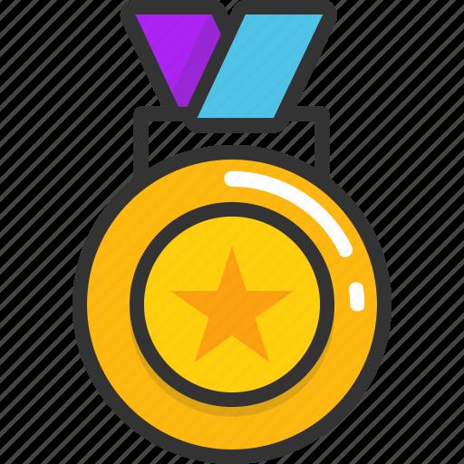 award medal, medal, medallion, prize, reward icon