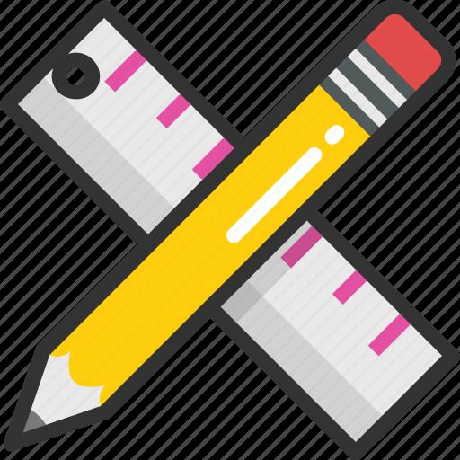 drafting, drawing tools, measuring, sketching, stationery icon