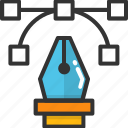 bezier, bezier tool, pen bezier, pen tool, photoshop tool icon