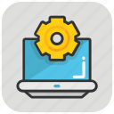 cog, preferences, programming, web development, web setting icon