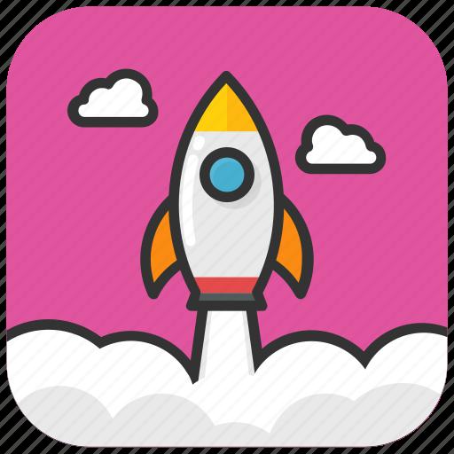 missile, rocket, space shuttle, spacecraft, spaceship icon