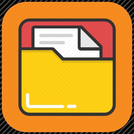 document, file folder, folder, portfolio, project file icon