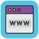 cyberspace, domain, internet browser, website, www icon