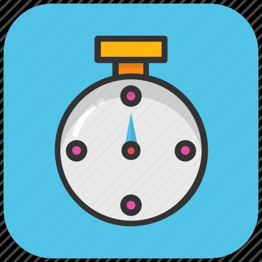 chronometer, countdown, pocket watch, stopwatch, timepiece icon