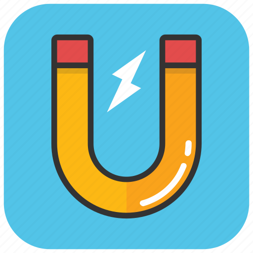 attraction, horseshoe magnet, magnet, magnetism, u-shaped icon
