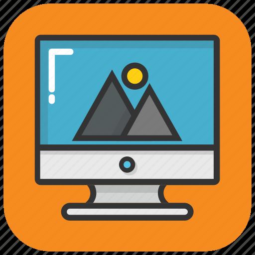 computer screen, desktop, monitor display, screen background, screen wallpaper icon
