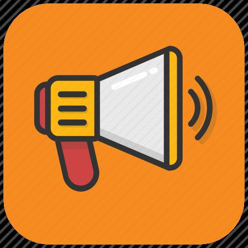 alert, announcement, bullhorn, loud hailer, megaphone icon