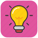 bulb, electric light, idea, illumination, light bulb icon