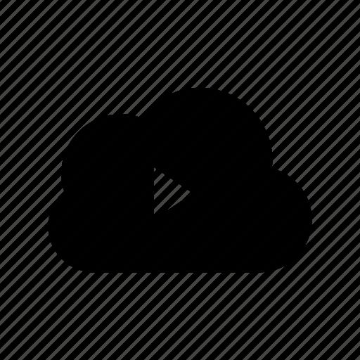cloud folder, cloud music, online media, online multimedia, online music icon