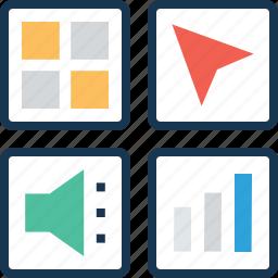 application, apps, grid, menu, mobile menu icon