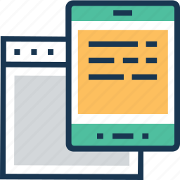 adaptive, devices, mobile, responsive, technology icon